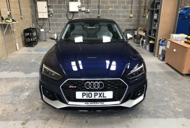 Audi RS5 - New Car Detail Ceramic Polish Protection before and after correction