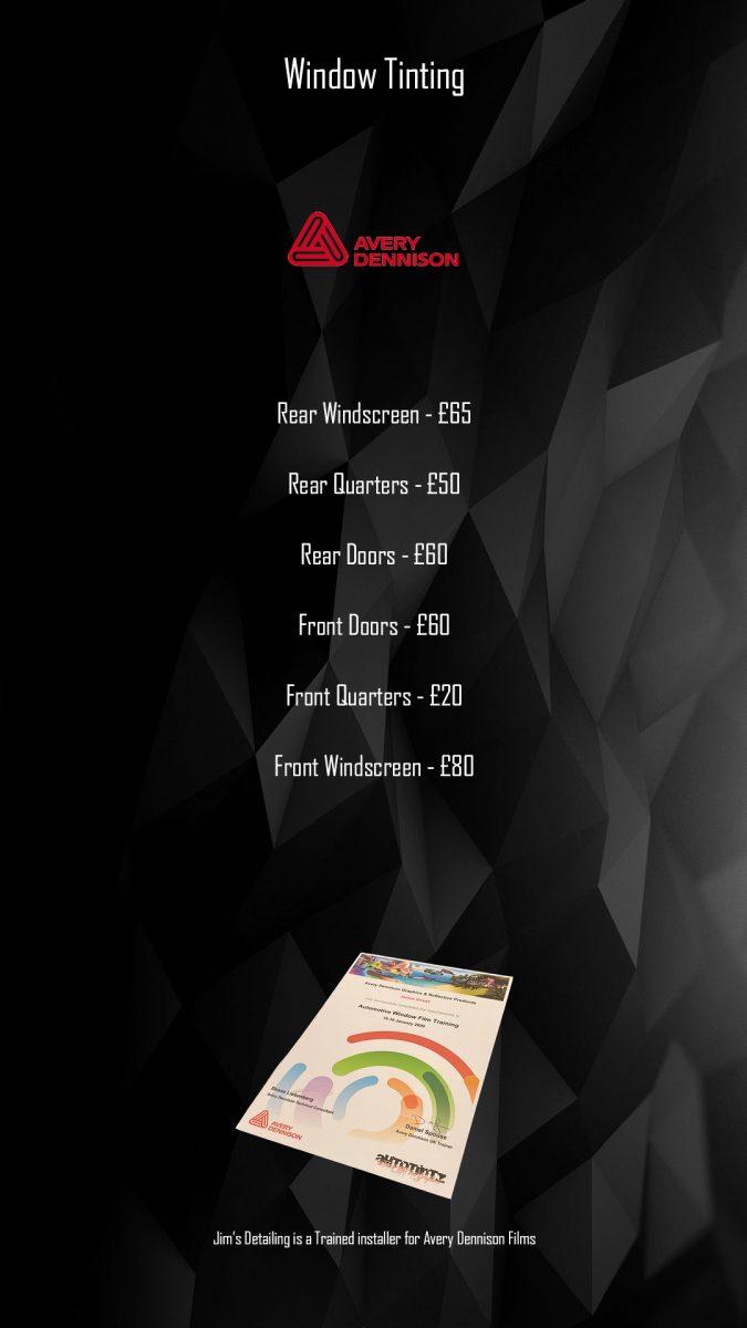 Window Tint Pricelist